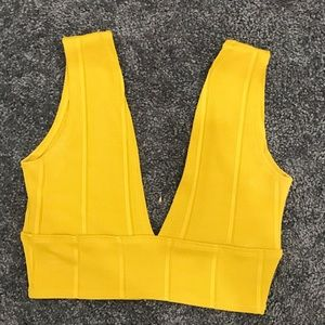 Misguided Yellow Crop Top
